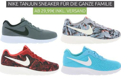 NIKE Tanjun Sneaker für die ganze Familie ab 29,99€