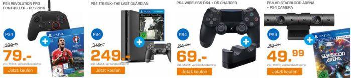 Saturn Weekend Sale: u.a. PlayStation 4 Konsole Slim 1TB + The Last Guardian für 249€