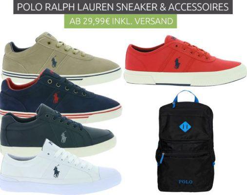 Ralph Lauren Polo Sneaker und Backpacks ab 29,99€   Restgrößen