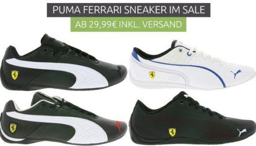 PUMA Ferrari Sneaker Sale: z.B. PUMA Valorosso in rot für 22,99€