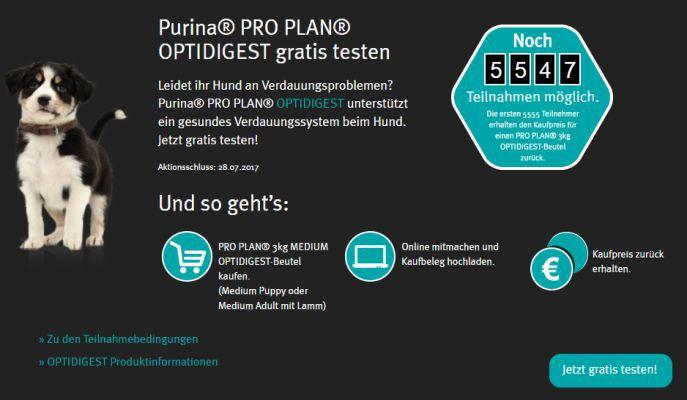 3kg Purina Pro Plan Optidigest Hundefutter gratis
