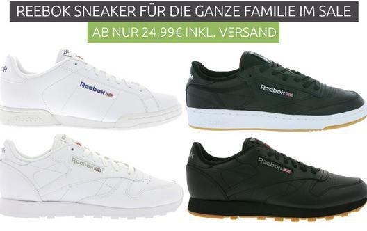 Reebok Schuhe für Damen und Herren bereits ab 17,99€
