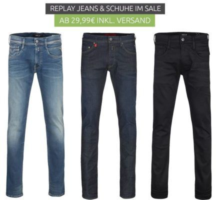 Replay Jeans und Schuhe mini Sale   Jeans ab 99,99€ Sneaker ab 29,99€
