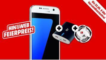Samsung Galaxy S7 + ext. Akku + adidas Fußball für 399€