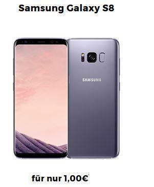 Top! Samsung Galaxy S8 oder S8 + mit Vodafone Allnet + SMS Flat   2 o. 4GB Daten ab 39,99€ mtl.