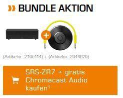 Sony SRS ZR7   Bluetooth Lautsprecher mit NFC + Chromecast für 149€ (statt 230€)