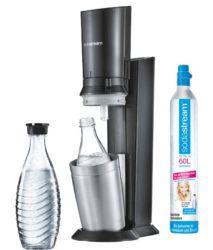 HOT! Sodastream Crystal Wassersprudler Titan + 2 Glaskaraffen für 88€ (statt 110€)