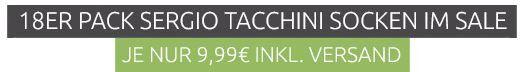 Sergio Tacchini   18er Pack Herren Sneaker  u. Tennissocken für je nur 9,99€
