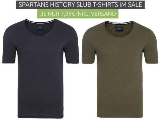 Spartans History Slub   Herren T Shirt für je 7,99€