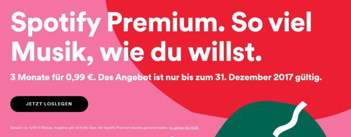 3 Monate Spotify Premium für nur 0,99€   nur für Neukunden   Fast Gratis!