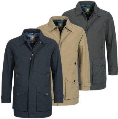 Timberland Mens Baker Mountain 2in1 Waterproof Trench Coat Mantel für je 59,99€