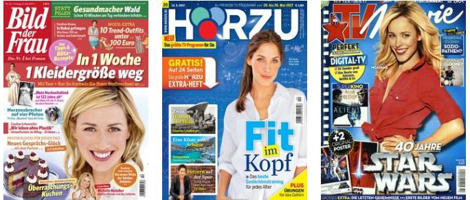 Leserservice mit Zeitschriften im Halbjahresabo inkl. 1.500 Payback Punkte zu jedem Abo