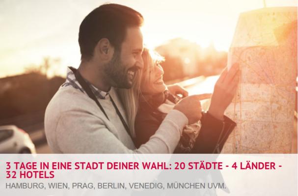 A&O Hotelgutschein für 2 Personen 3 Tage   20 Städte   4 Länder (opt. 2 Kinder) ab 59€