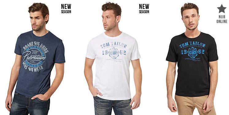 15% Rabatt auf T Shirts, Blusen, Hemden und Poloshirts bei Tom Tailor