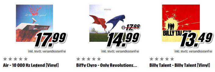 Vinylaktion bei Media Markt – 3 Vinyls für 35€