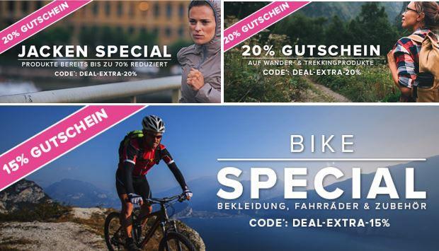 Valola 70% Sale + 20% auf Jacken, Wander & Trecking   15% im BIKE Spezial