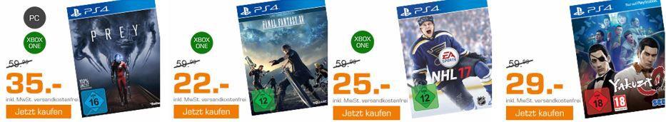 Saturn Weekend Sale: u.a. NHL 17   PlayStation 4 / XBox one statt 41€ für 25€