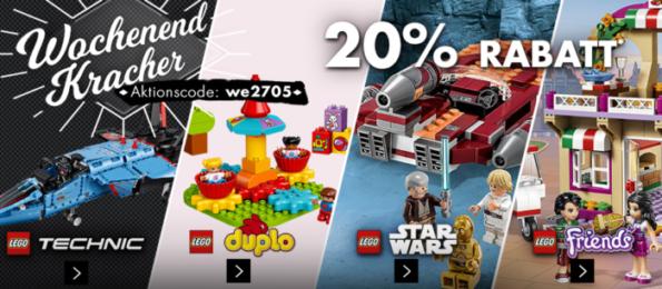 Karstadt Kracher mit z.B. 20% auf LEGO Technik, Star Wars, duplo, Armbänder, Spiele und mehr...