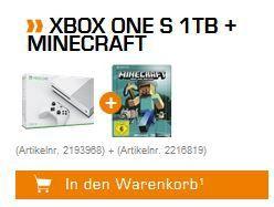 Xbox One S   1TB + Minecraft Steelbook Edition für 199€ (statt 251€)