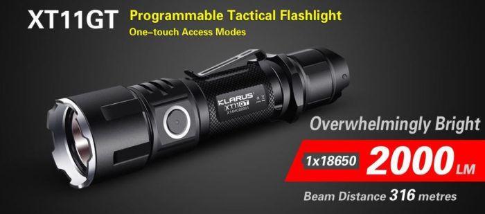Klarus XT11GT Tactical LED Taschenlampe für 55,67€ (statt 90€)