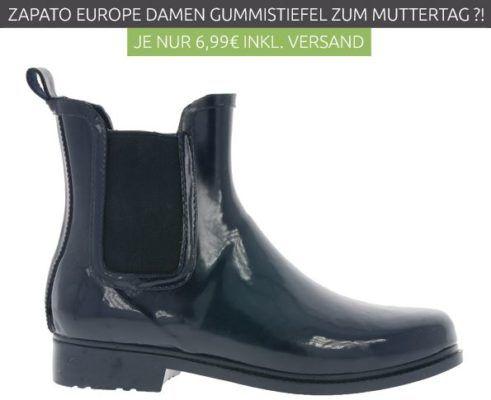 ZAPATO EUROPE Chelsea Damen Gummistiefel statt 19€ für nur 6,99€