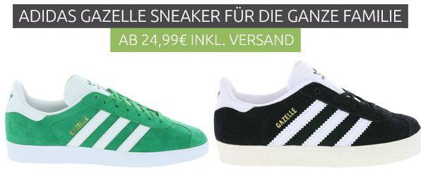 adidas Gazelle Sneaker für die ganze Familie ab 24,99€