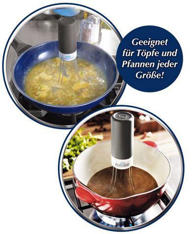 ROBOStir Soßenrührer – vollautomatischer Batteriebetriebener Kochlöffel für 6,90€ (statt 10€)