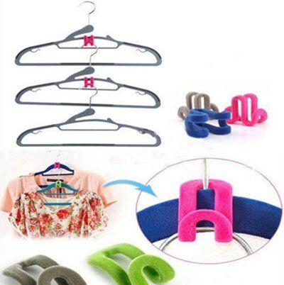 10 Kleiderhaken Organizer in versch. Farben für je 1,05€