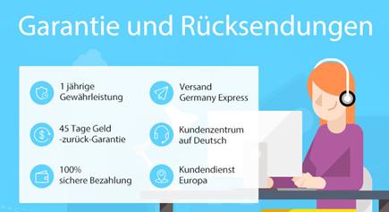 Endlich! Gearbest mit deutscher Seite + weitere Vorteile   z.B. Reparaturzentrum in Europa
