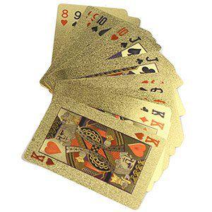 Vergoldetes Pokerblatt mit Zertifikat (24 Karat) für 3,42€