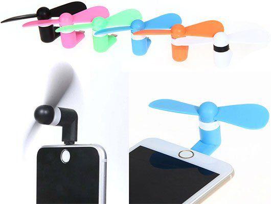 Portabler Mini Ventilator für iPhone & iPad in versch. Farben für je 1,04€