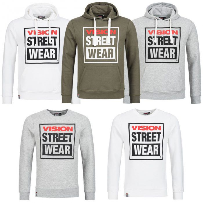 Vision Street Wear Crew Hoodies je 16,99€ inkl. VSk