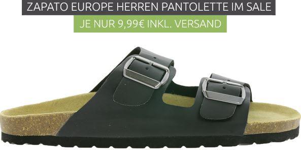ZAPATO EUROPE Herren Pantoletten für je 9,99€