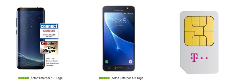 Samsung Galaxy S8 + Galaxy J5 (2016) für 1€ + Telekom Magenta Mobil M mit 3GB LTE für 53,74€ mtl.   Friends Vorteil möglich