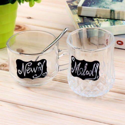 36 Tafelsticker für Gläser, Schalen, Behälter, Boxen etc. für 1,38€