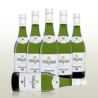 6 Flaschen Weißwein   Torres Vina Sol (2016) für 28,56€ (statt 35€)