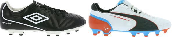 Marken Fussballschuhe für Kinder ab 3,99€ oder für Erwachsene ab 9,99€   z.B. UMBRO Classico 4 HGR für 9,99€