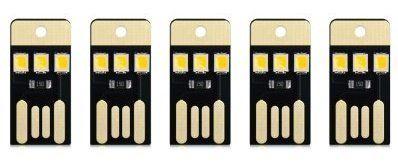 5 USB Lichter mit 3 kleinen LEDs für 0,88€
