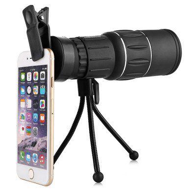 Wasserfestes 16x52mm Monokular mit Stativ für das Smartphone für 9,35€