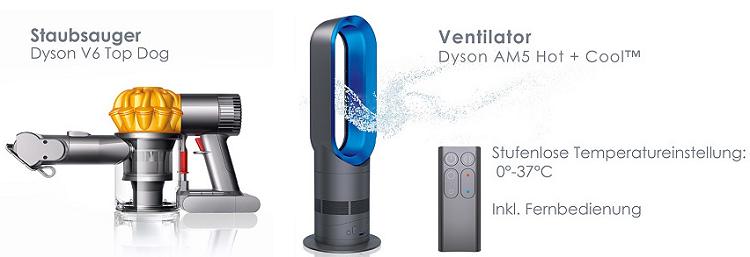 Dyson V6 Top Dog für 149€ (statt 194€) oder AM5 Hot + Cool für 229€ (statt 307€)