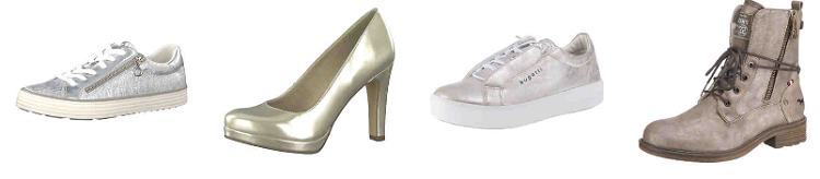 Mirapodo mit 20% Rabatt auf alle Schuhe im Metallic Look
