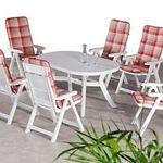 """Best Freizeitmöbel """"Santiago"""" 13-tlg Tischgruppe in Kunststoff (weiß) für 197,95€  (statt 247€)"""