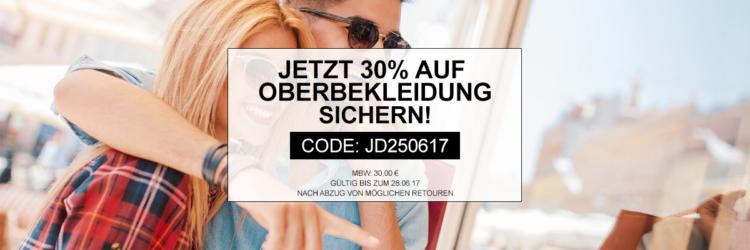 30% Rabatt auf Oberbekleidung bei Jeans Direct   auch reduzierte Artikel bis Mitternacht!