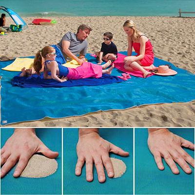 Anti Sand Strandtuch in blau, grün oder pink & in 2 Größen ab 10,07€
