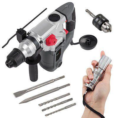 Powerplus POWE10080   SDS Bohrhammer mit 1500 Watt + LED für 84,90€ (statt 99€)