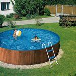 MyPool Splash Pool in Holzoptik (Durchmesser: 3,6m x 0,9m) inkl. Filter + Leiter für 299€ (statt 375€)