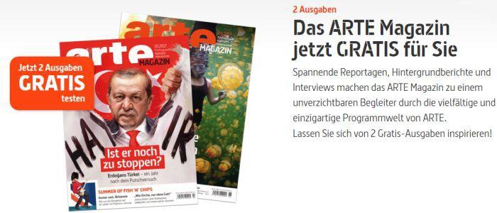 2 Ausgaben Arte Magazin gratis testen – Kündigung notwendig