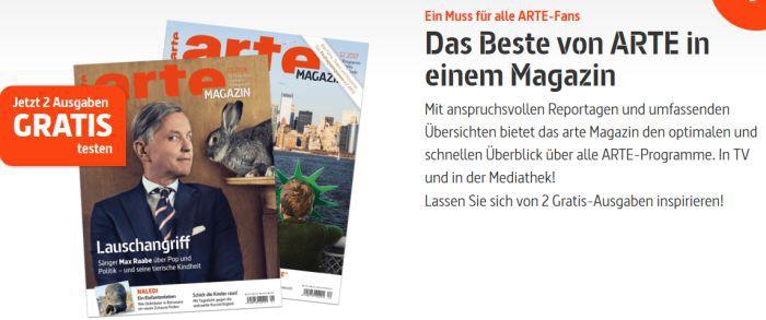 2 Ausgaben Arte Magazin gratis – Kündigung notwendig