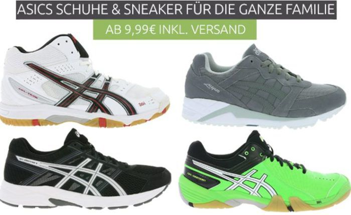 Asics Schuh Sale bei Outlet46 + VSK frei   z.B. Asics Ayami Shine Sportschuhe für 9,99€ (statt 28€)