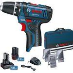 Bosch GSR 10,8-2-L Akkuschrauber + 2 Akkus + 39-tlg. Zubehör + Tasche für 87,20€ (statt 105€)